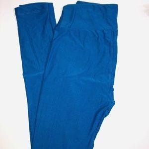 LuLaRoe OS Solid Blue Super Soft Leggings